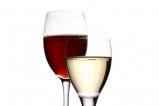 Wino białe i czerwone