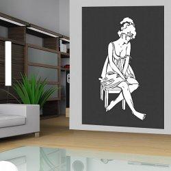 Salon, fototapeta z wizerunkiem kobiety