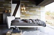 Sypialnia w lofcie s tylu industrialnym
