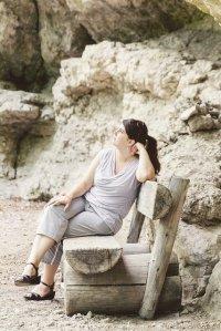 Kobieta na ławce