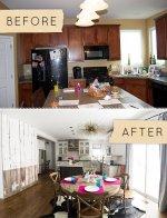 Aranżacja kuchni przed i po