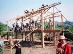 szkielet budowanego domu
